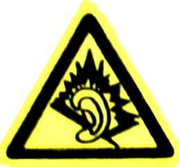 Symbol for danger of NIHL (Noise-Induced Heari...