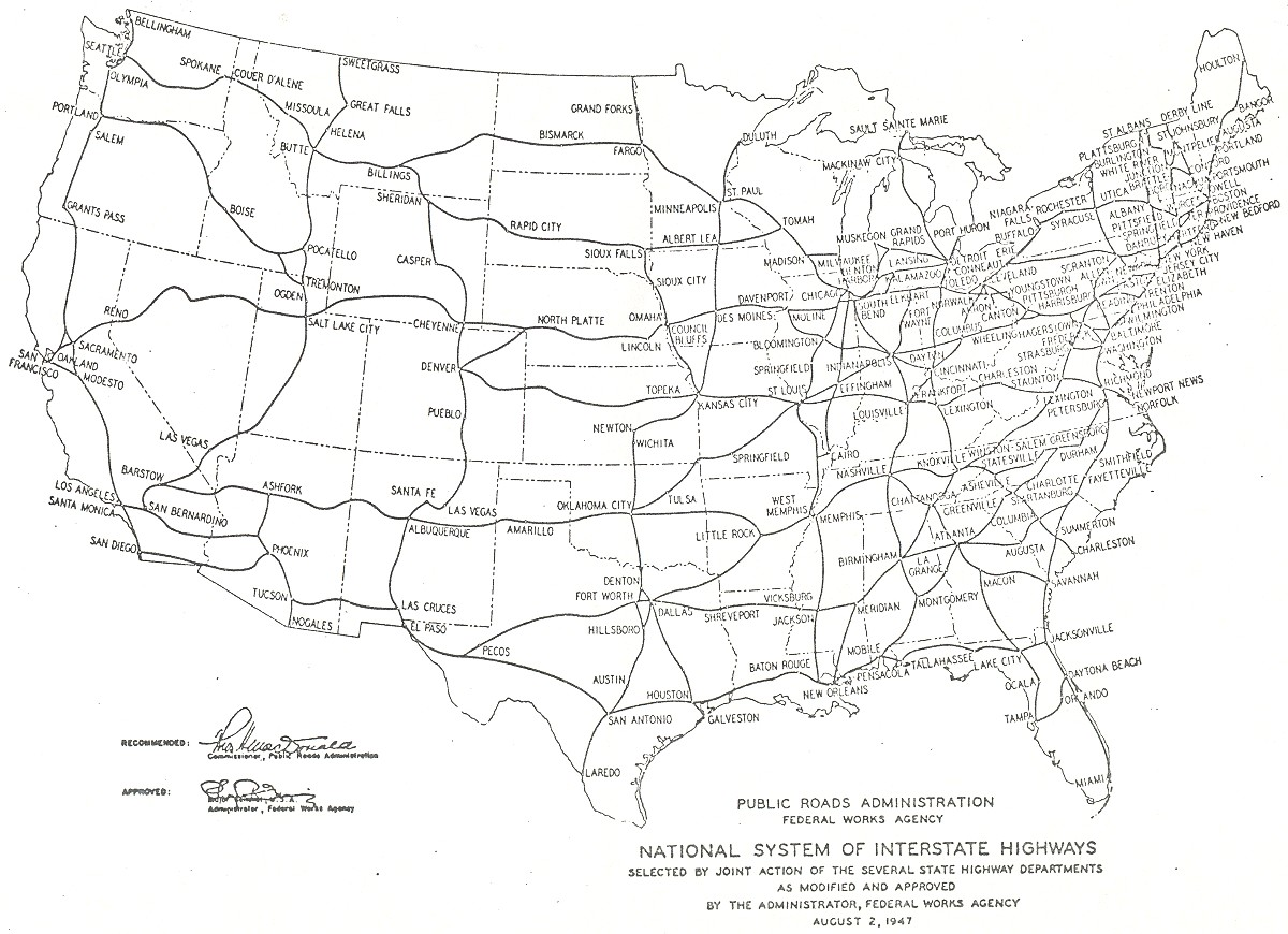 Project Map Of Interstate Highways Digital