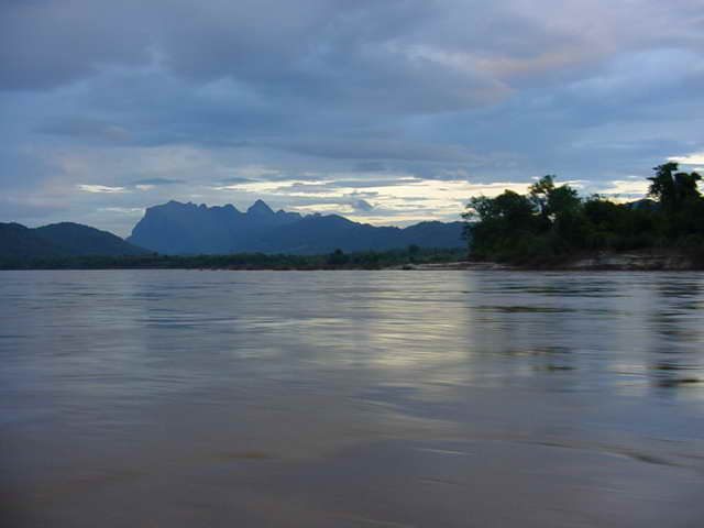 The Mekong before sunset
