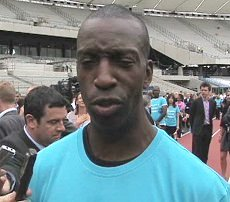 Michael Johnson at the London Olympic Stadium.