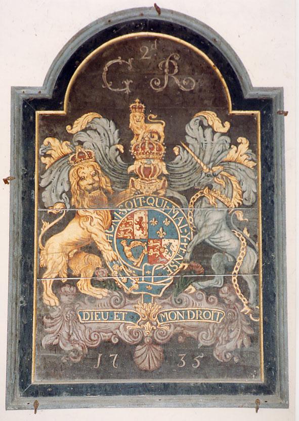 File:St John the Baptist, Higher Ashton, Devon - Royal Arms