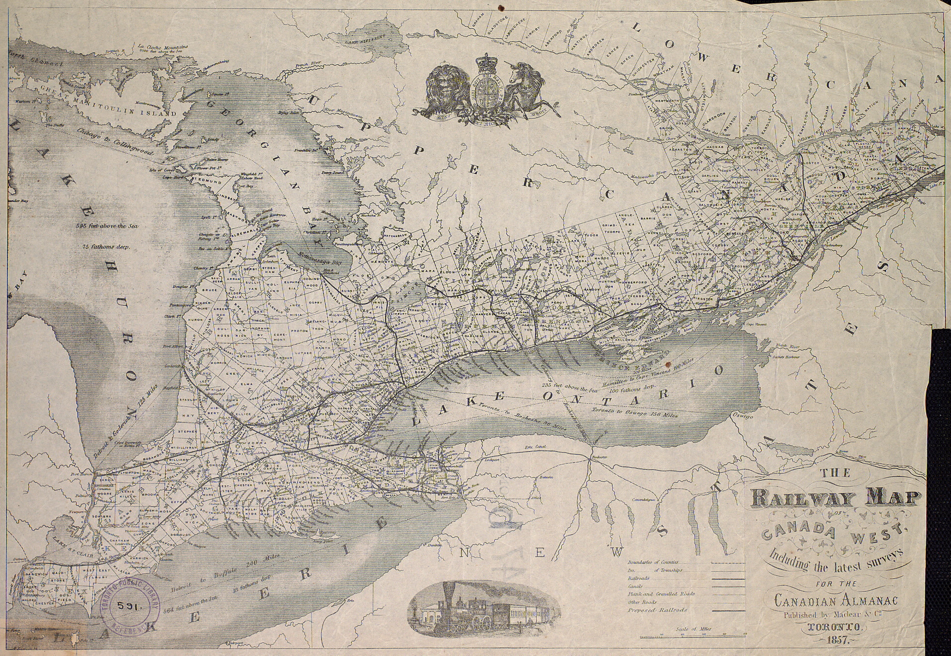 File The railway map of Canada West including the latest surveys for     File The railway map of Canada West including the latest surveys for the  Canadian almanac