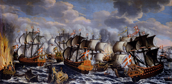 Fil:Battle in køge bay-claus moinichen 1686.jpg