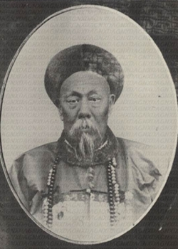 Qing dynasty Chinese muslim General Dong Fuxia...