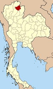 แผนที่ประเทศไทย เน้นจังหวัดพะเยา
