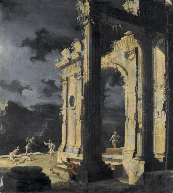 FileAn Architectural Capriccio With Figures Amongst Ruins