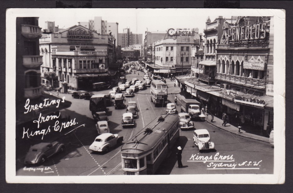 The Kings Cross area of Sydney in 1950.