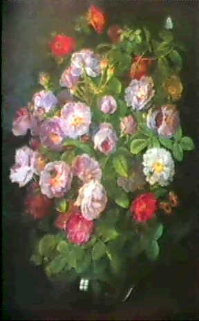 English: Great bouquet of flowers in a vase De...