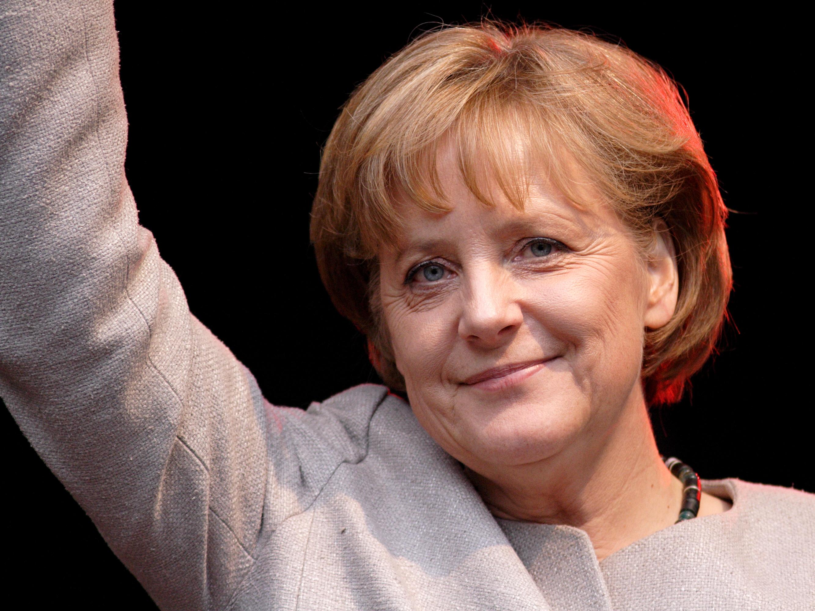 Angela Merkel, omvald förbundskansler i Tyskland