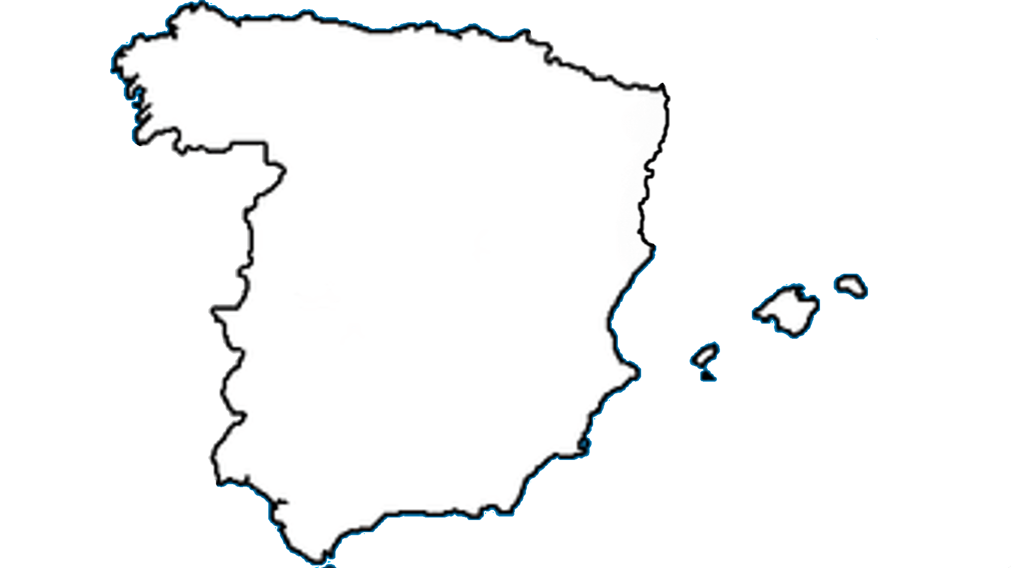 File Blank Map Of Spain Without Catalonia