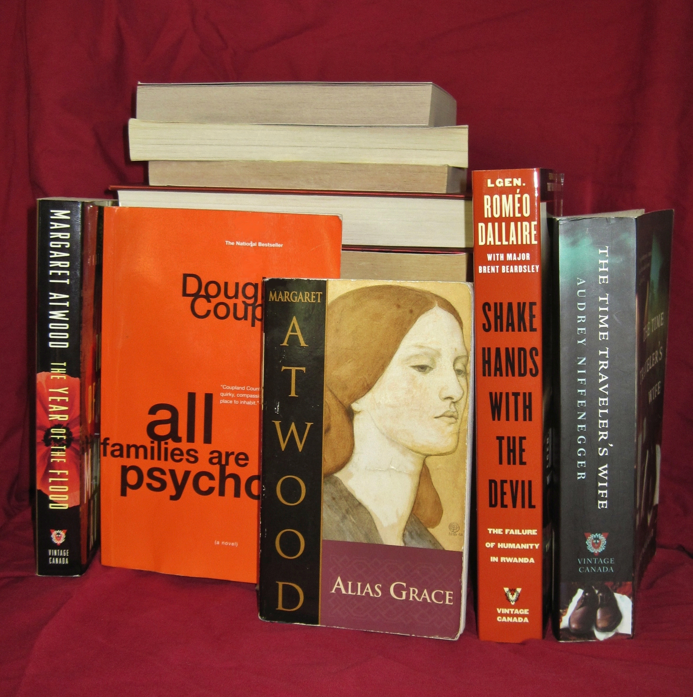 English: A small collection of books published...