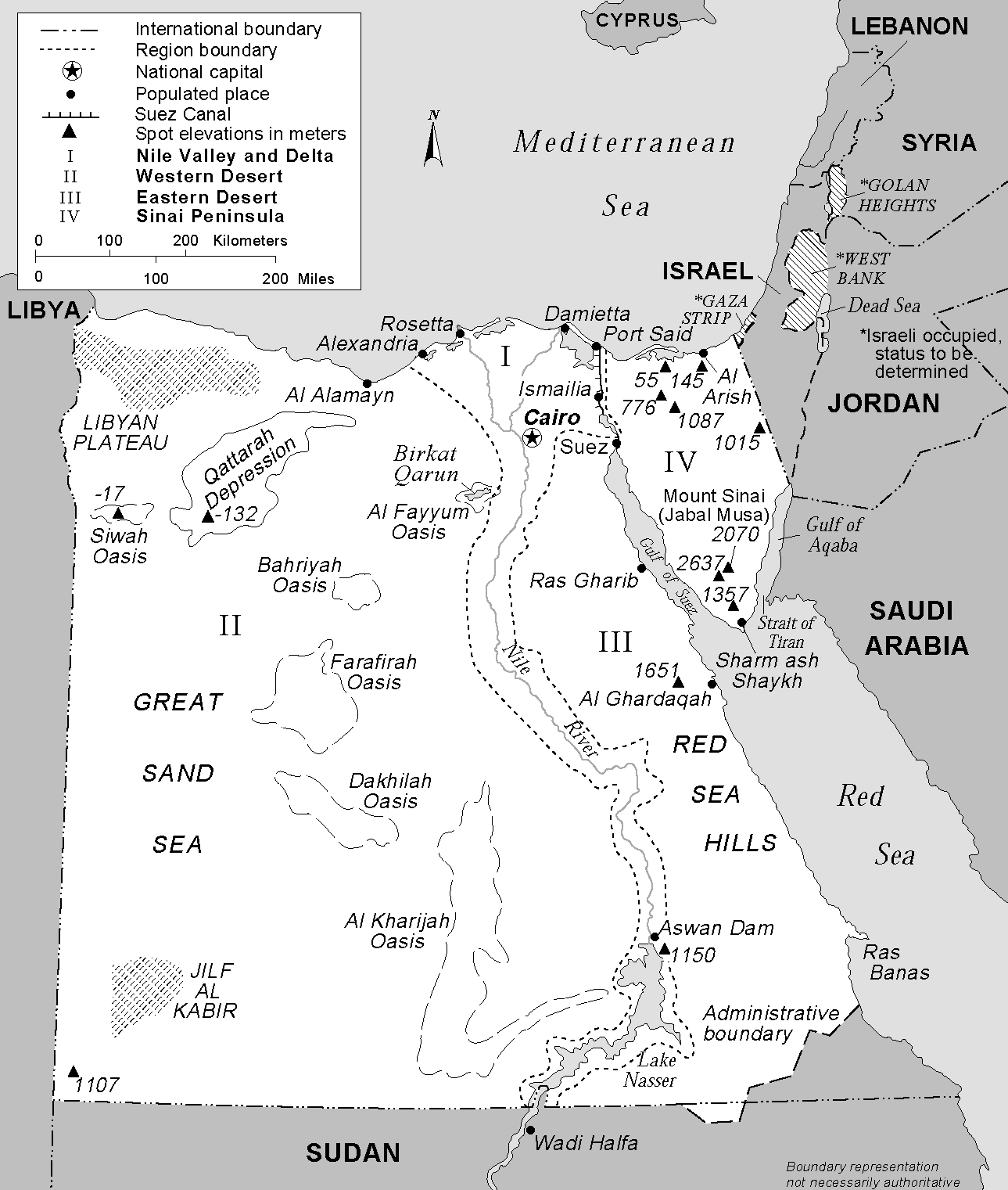 File Egypt Regions And Boundaries