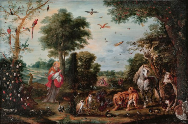 File:Paradise landscape with the Creation of the animals ...