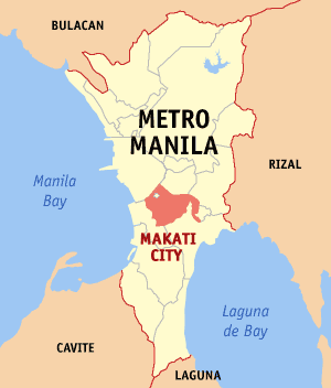 Map of Metro Manila showing the location of Ma...