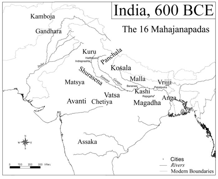 India in 600 BC