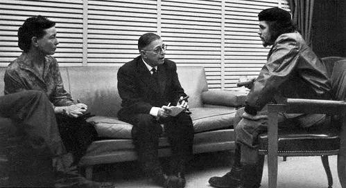 Celal Üster. Simon de Beauvoir, Sartre ve Che... Küba, 1960. Cuhuriyet gazetesi.