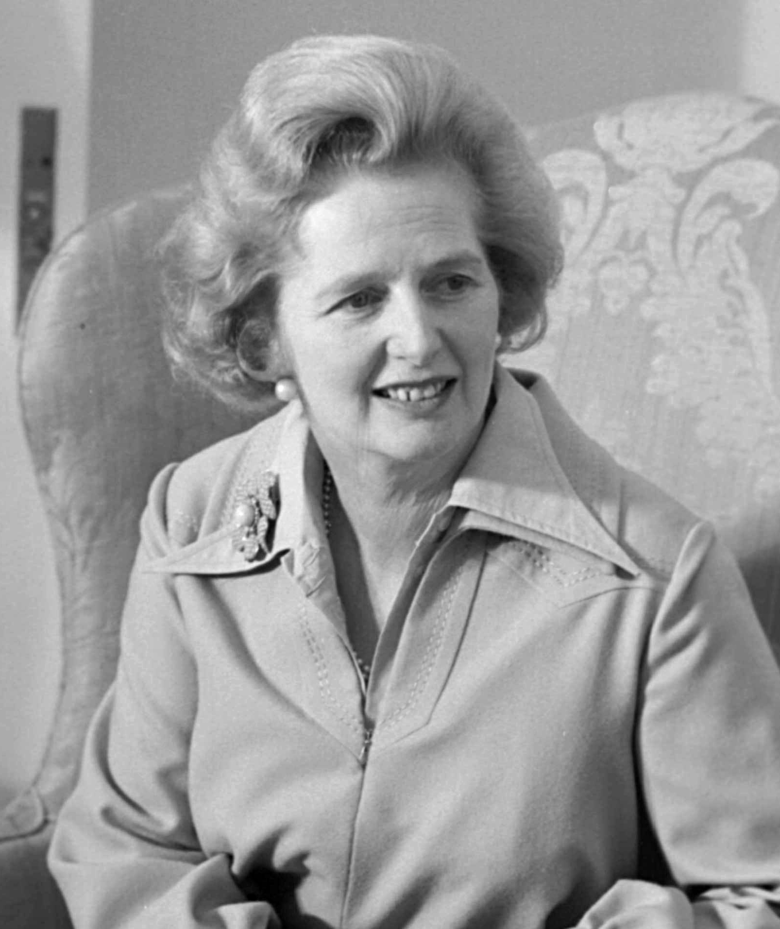 Margaret Thatcher in 1975