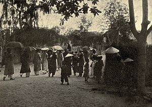 English: A wedding in Annam (Middle of Vietnam...