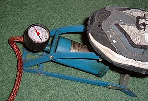 Foot-operated bicycle pump