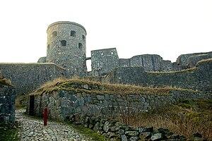 The castle ruin of Bohus near Göteborg in Sweden.