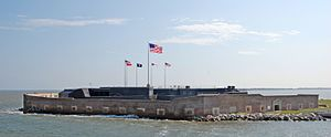 English: Fort Sumter in South Carolina, USA.