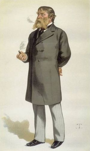 Caricature of James Russell Lowell (1819-1891)...