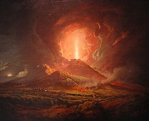 English: Vesuvius from Portici by Joseph Wrigh...