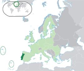 Localização de Portugal