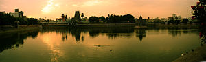 Temple tank of Kapaleeshwarar temple temple at...