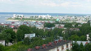 Naberezhnye Chelny - View from the hotel Tatarstan