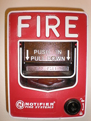 A Notifier Fire Systems fire alarm