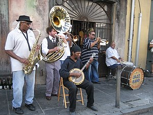 New Orleans: Preservation Hall Jazz band plays...