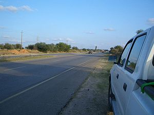 The road leading to Misrata from the capital T...
