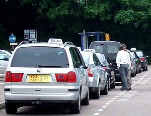 Taxis in Hemel Hempstead.