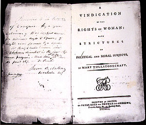 First edition print of Vindication of the Righ...