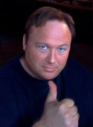 Radio host and documentary film maker Alex Jones