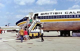 British Caledonian Boeing 707 at Gatwick Airpo...
