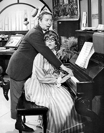 Publicity photo of Carol Burnett and Mel Torme...