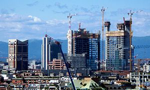 High rise buildings under construction in Port...
