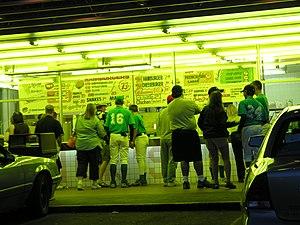 Menu of Dick's Hamburgers at Spokane, WA