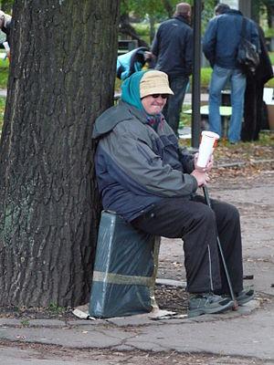 English: Homeless in Tallinn, Estonia.
