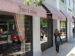 Outside a Juicy Couture store in New York