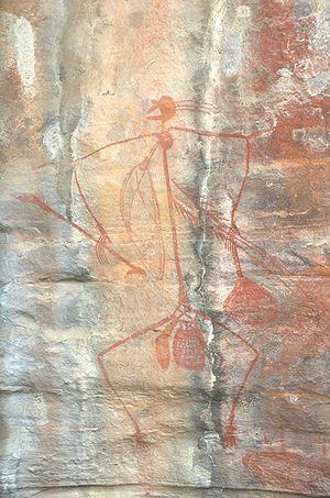Aboriginal Rock Art, Ubirr Art Site, Kakadu Na...