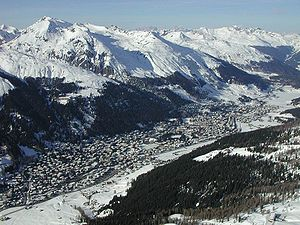 Davos in Switzerland - taken from paraglider