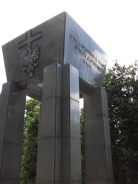 Monumento às vítimas do stalinismo em Katowice, na Polônia