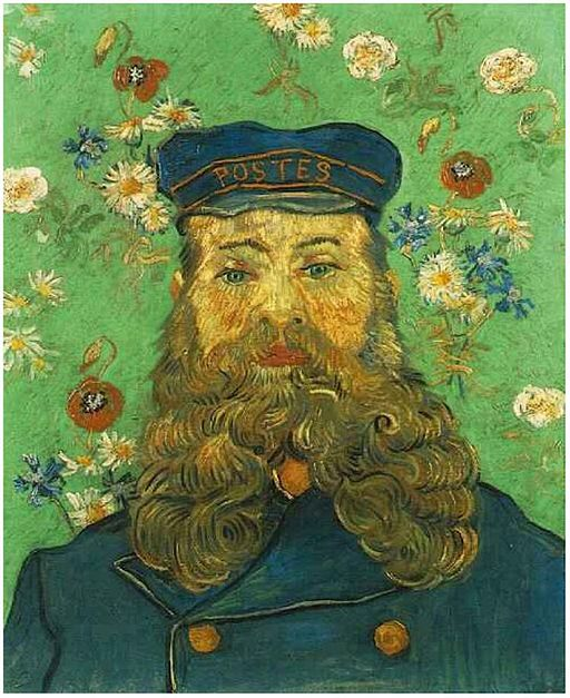 Portrait of the Postman Joseph Roulin (1889) van Gogh Kroller