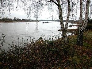 Rhein by Grimlinghausen. Neuss. Jakobsweg.