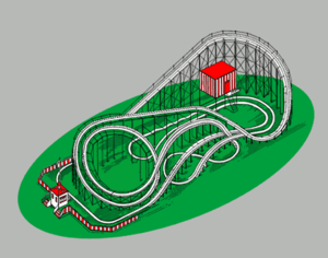 An example of a roller coaster, one of the sta...