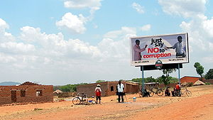 Say no to bribes (probably in Chipata), Zambia