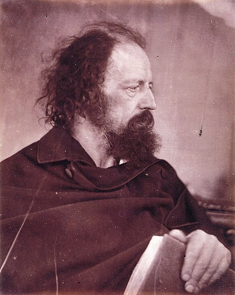 File:Alfred Tennyson with book, by Julia Margaret Cameron.jpg